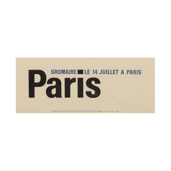 Affiche ancienne spectacle - Gromaire - 1956 - Le 14 juillet à Paris - 97 par 61 cm - vue 3