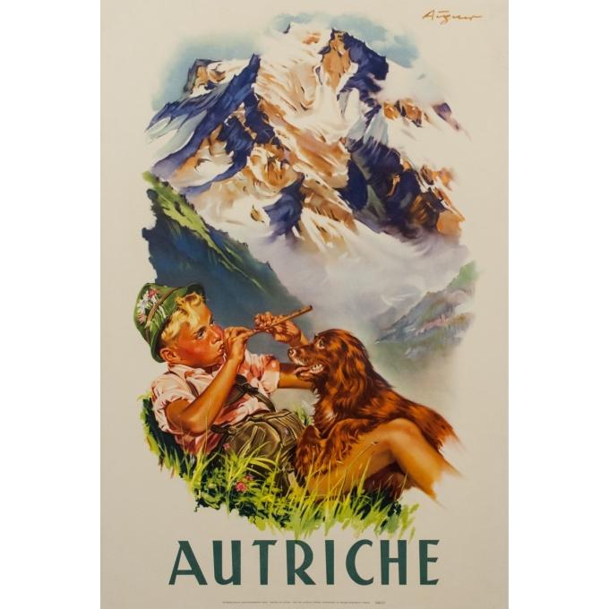 Affiche ancienne de voyage - André Gérand - 1960 - Autriche - 95 par 64 cm