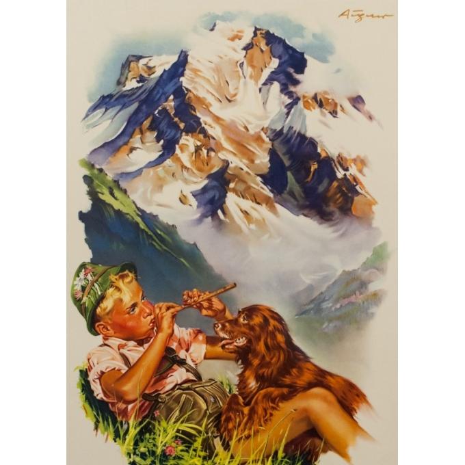 Affiche ancienne de voyage - André Gérand - 1960 - Autriche - 95 par 64 cm - Vue 2