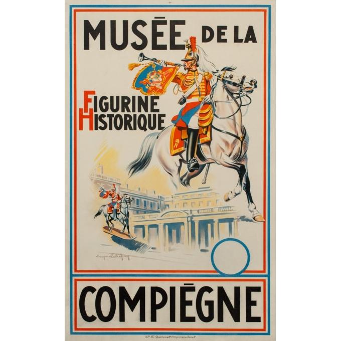 Affiche ancienne Eugène Zéliep - 1955 - Musée Figurine Historique - 99.5 par 62 cm