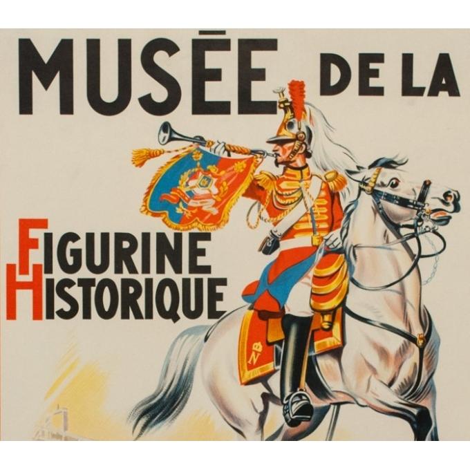 Affiche ancienne Eugène Zéliep - 1955 - Musée Figurine Historique - 99.5 par 62 cm - Vue 2