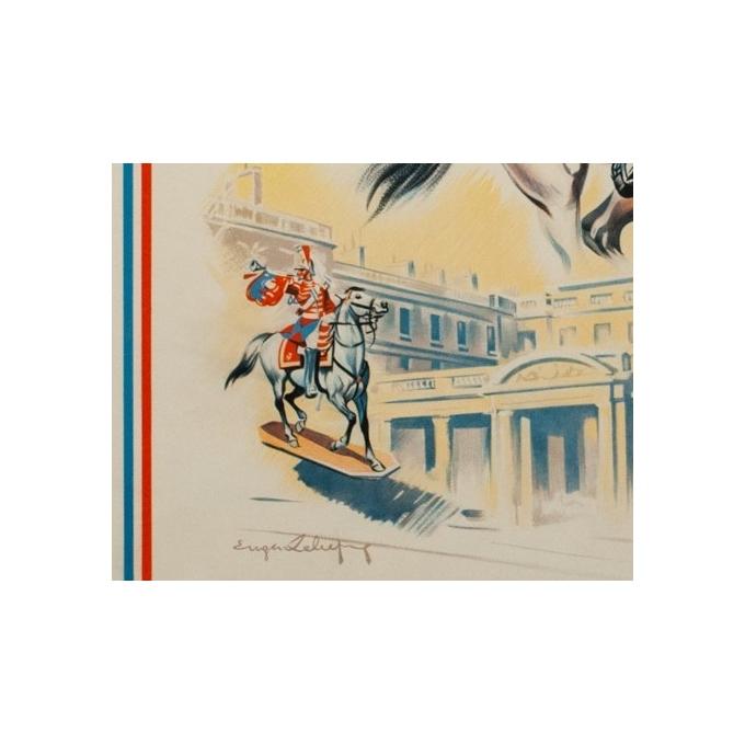 Affiche ancienne Eugène Zéliep - 1955 - Musée Figurine Historique - 99.5 par 62 cm - Vue 3