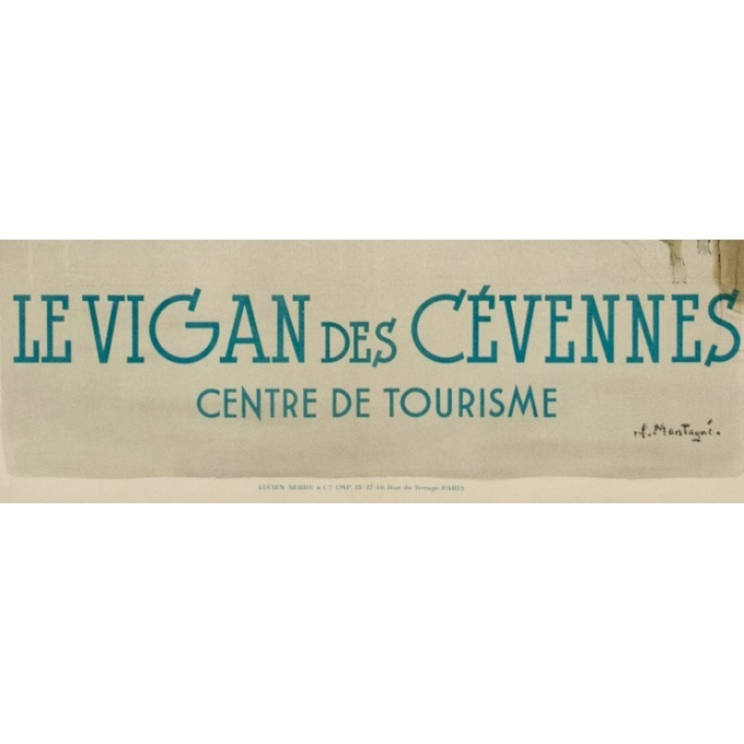 Vintage travel poster PLM - Montagus - Le Vigan des Cévennes - 1925 - 39.37 by 24.41 inches - View 3