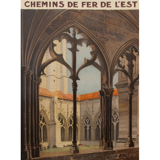 Vintage travel poster french railroads - Monnot - 1925 - Toul - 39.37 by 24.61 inches - View 2