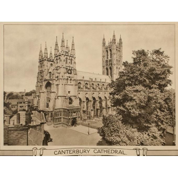 Affiche ancienne de voyage - Cathédrale de Canterbury - 1912 - 101 par 63 cm  - Vue 3