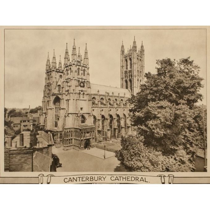 Affiche ancienne de voyage - Canterbury Cathedral - 1912 - 39.76 by 24.80 inches - view 3