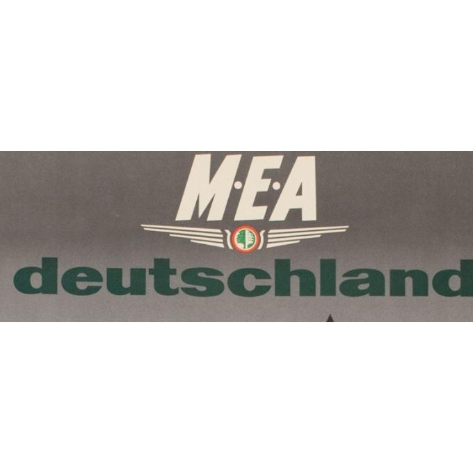 Affiche originale de voyage - MEA - Deutschland - Auriac - 1960 - 80 par 53 cm - Vue 2