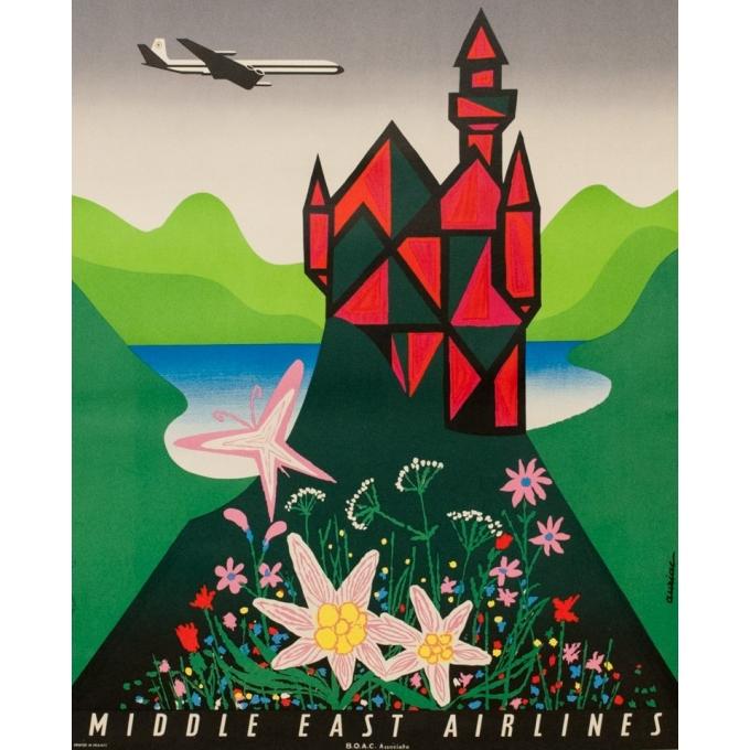Affiche originale de voyage - MEA - Deutschland - Auriac - 1960 - 80 par 53 cm - Vue 3