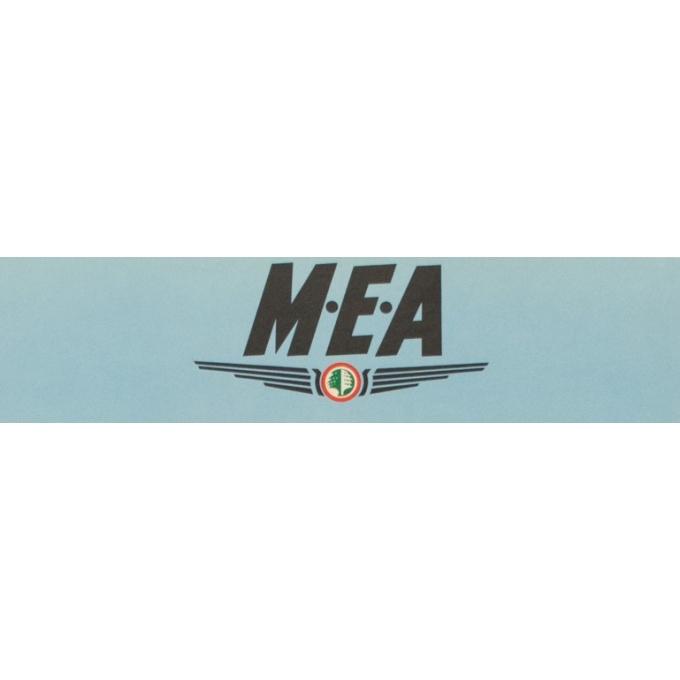 Affiche originale voyage air - Auriac - 1960 - MEA fret - 80 par 53.5 cm - vue 2