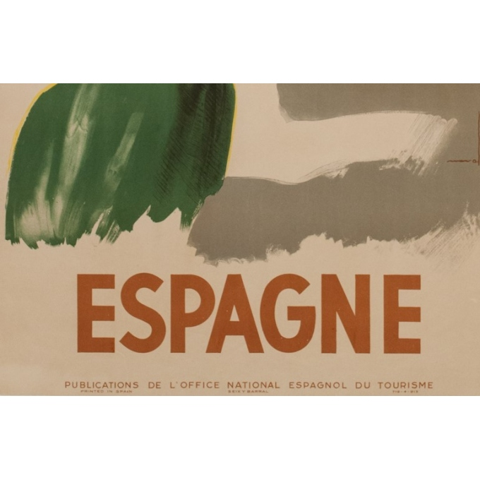 Vintage travel poster - Nuvall - Espagne - 1950 - 38.98 by 24.21 inches - View 3