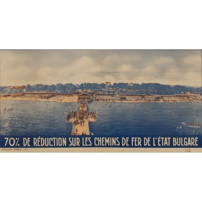 Vintage poster - 8th international fair of Varna - K.K. - 1939 - 39.37 by 25 inches - View 3