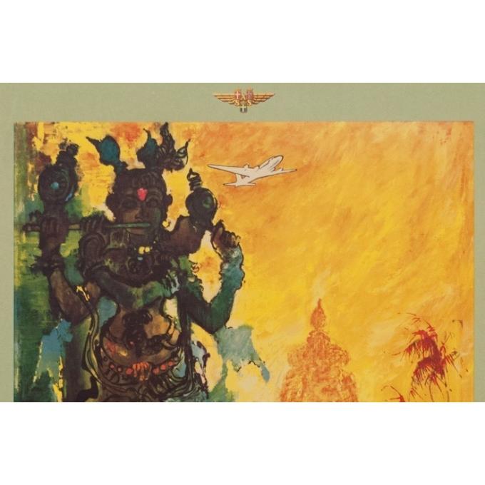 Affiche original voyage - India - Nielsen - 1965 - 97.5 par 60 cm - Vue 2