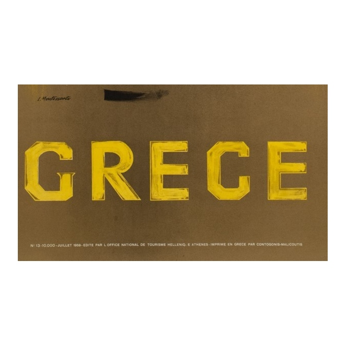 Original travel poster - Grece - L. Montessanto - 39.76 by 27.17 inches - view 3