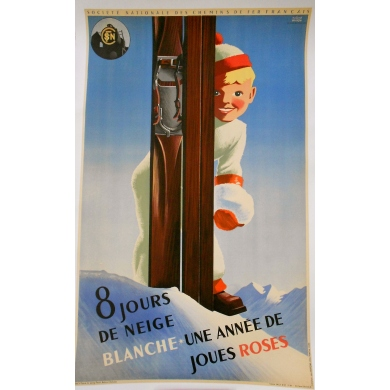 8 jours de neige blanche original french poster