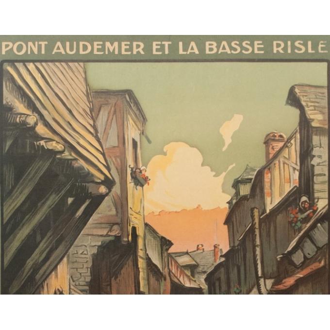 Affiche ancienne de voyage - Charles Hallaut - La Venise Normande - 106 par 74 cm - Vue 2