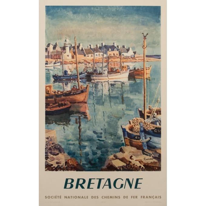 Affiche ancienne SNCF - Vretagne - Ceria - 1957 - 100 par 62 cm