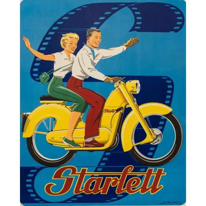 Affiche ancienne de publicité - A.Kow - 1950 - Starlett - 120 par 80 cm - Vue 2