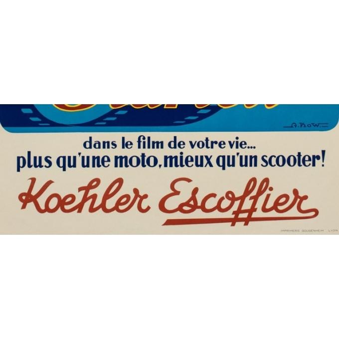 Affiche ancienne de publicité - A.Kow - 1950 - Starlett - 120 par 80 cm - Vue 3