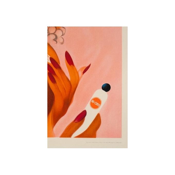 Affiche ancienne publicitaire de Glaser 1960 - Crème solaire Bi-oro - vue 2