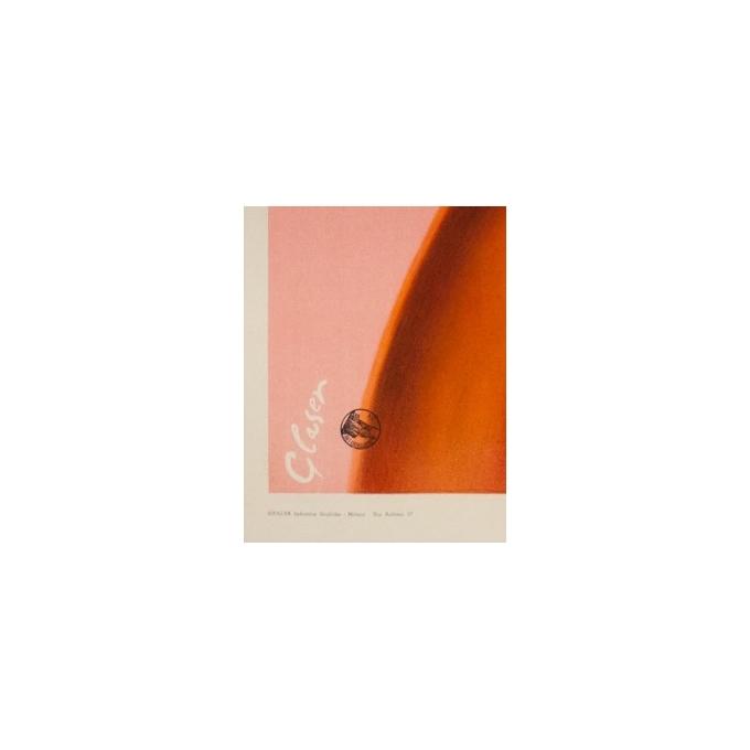Affiche ancienne publicitaire de Glaser 1960 - Crème solaire Bi-oro - vue 3