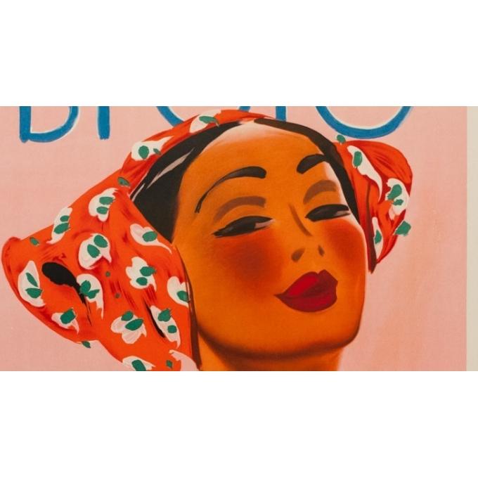 Affiche ancienne publicitaire de Glaser 1960 - Crème solaire Bi-oro - vue 5