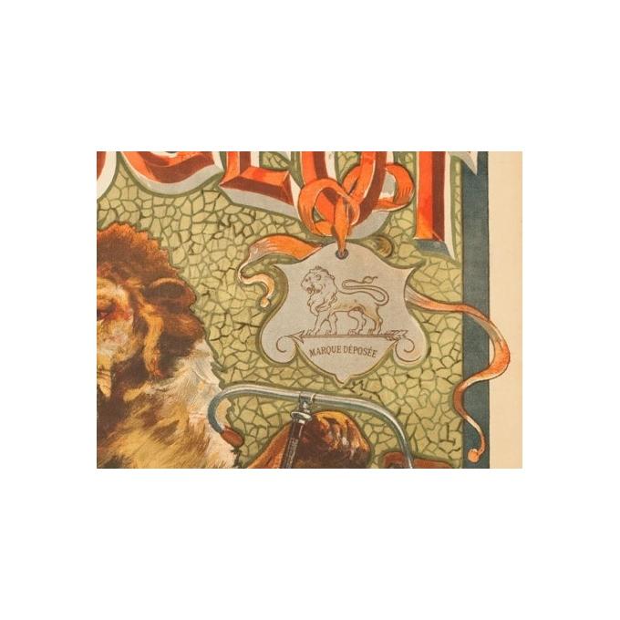 Affiche ancienne de publicité pour Peugeot - Tamagno - 1900 - 138.5 par 89 cm - Vue 5