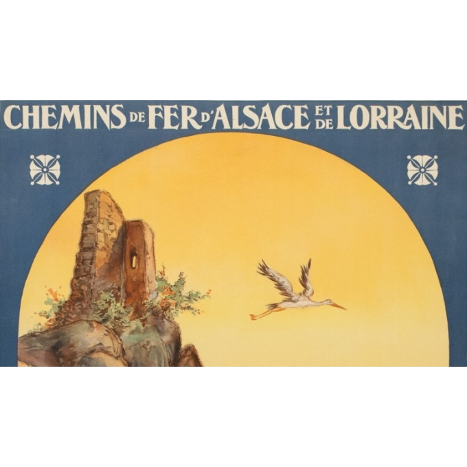 Vintage travel poster - Koaufemann - 1920 - l'Alsace La Plaine - 40.75 by 29.53 inches - view 2