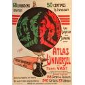 Affiche Atlas universel par Henri Vast - Clerice - Elbé Paris