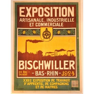 Original vintage poster Bischwiller