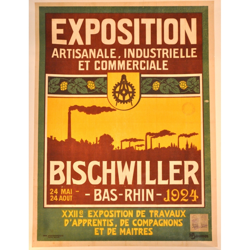 Original french vintage poster Bischwiller 1924