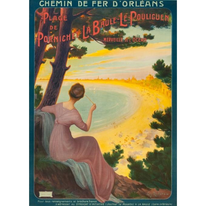 Affiche ancienne de voyage - Henri Tolart - 1909 - Le Lioran-Auvergne - 103.5 par 73.5 cm
