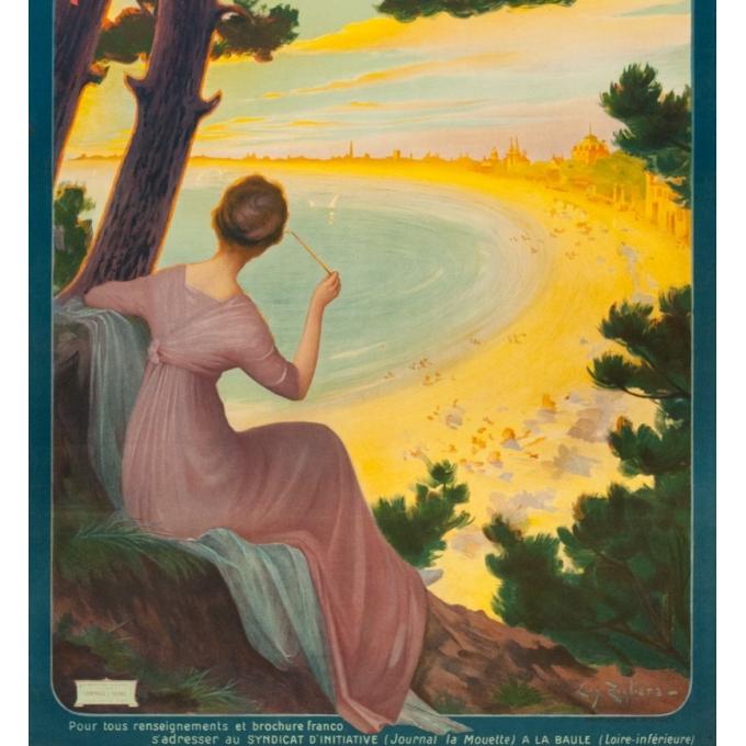 Affiche ancienne de voyage - Henri Tolart - 1909 - Le Lioran-Auvergne - 103.5 par 73.5 cm - Vue 3