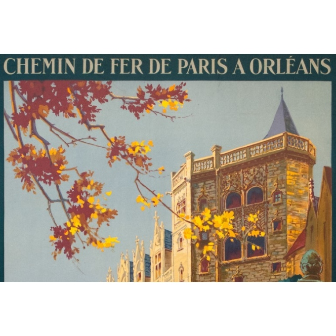 Vintage travel poster - Pierre Commarmont - 1930 - château de nantes - 39.4 by 24.6 inches - view 2