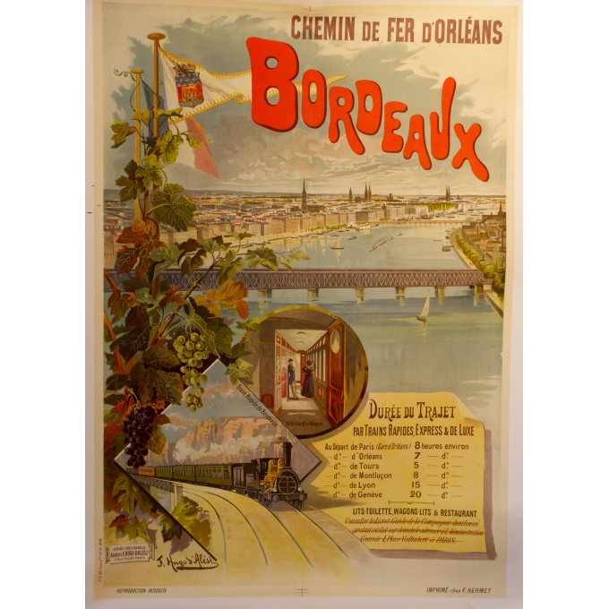 Original poster south west France, Bordeaux. Elbé Paris