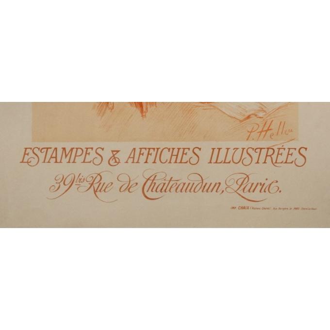 Affiche ancienne de publicité - P.Paul Helleu - 1900 - Edition sagot - Estampes et affiches illustrées - 103.5 par 71 cm - vue 4