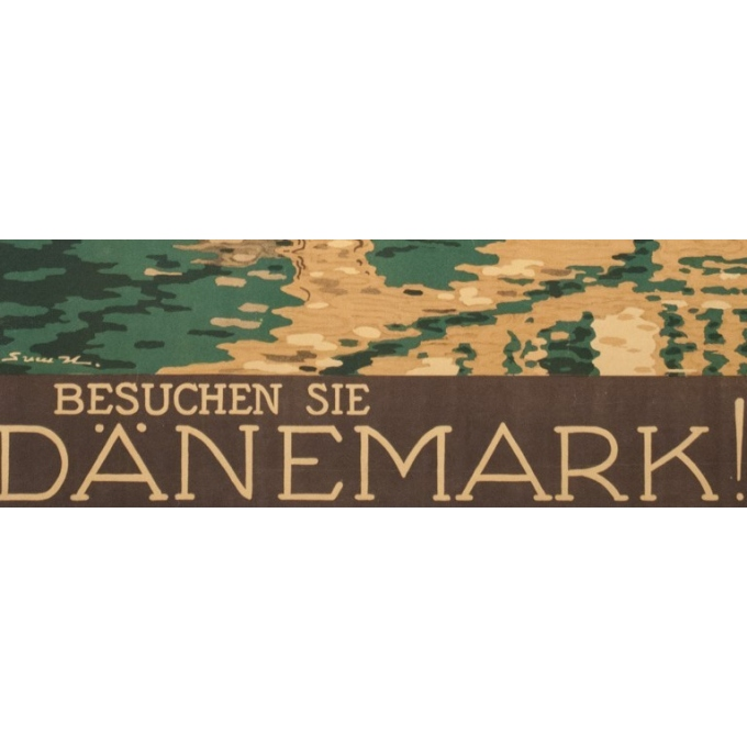 Vintage travel poster -Danemark-Kopenhaguen - 38.6 by 24 inches - Vue 4