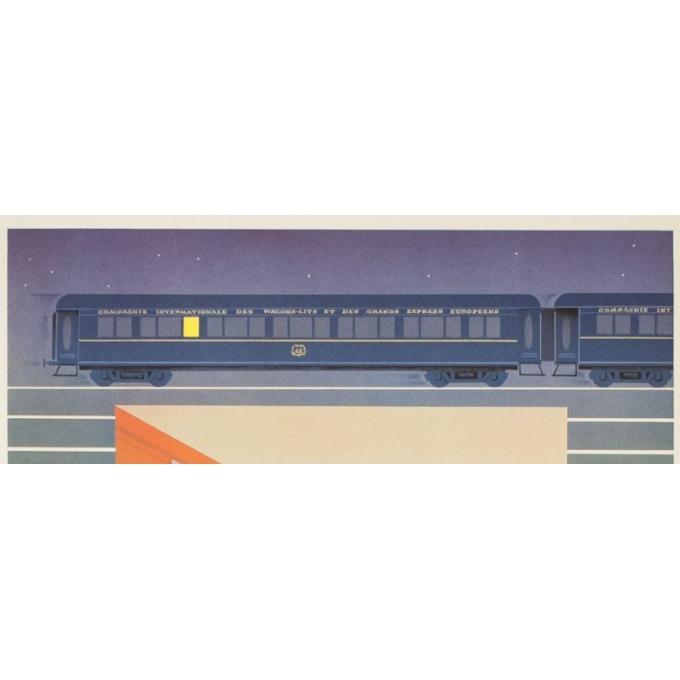 Affiche ancienne de voyage - Pierre Fix masseau  - 1980 - Venise-simplon-Orient express - 98.5 par 62.5 cm - vue 2