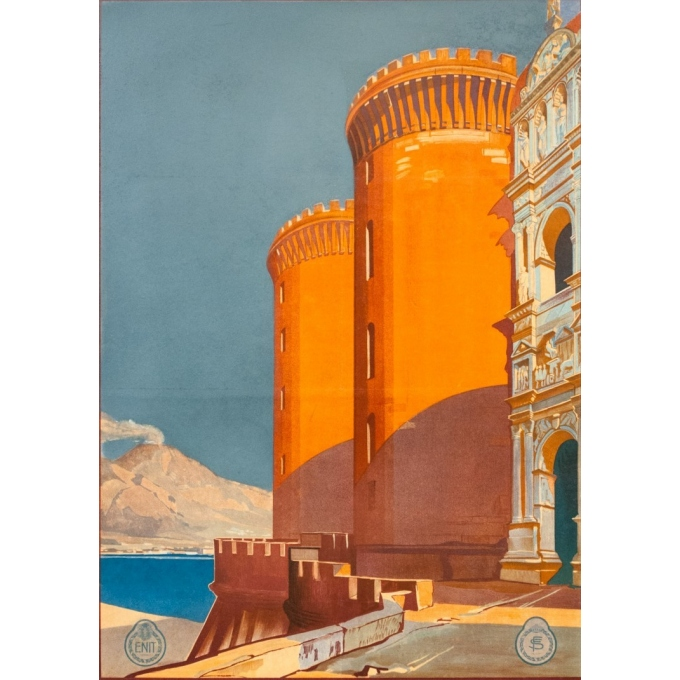 Vintage travel poster - Hugo d'Alési - 1900 - Italy Naples - 39.8 by 29.9 inches - View 3