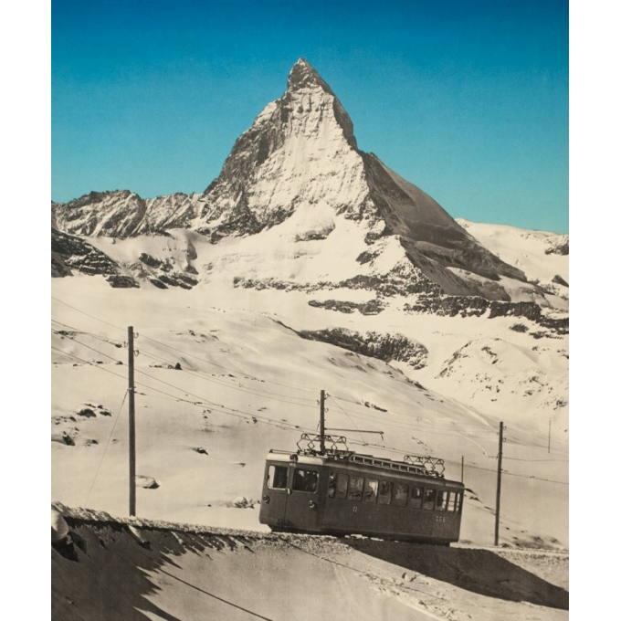 Vintage travel poster - Anonyme  - 1953 - Zermatt - 40.2 by 25.2 inches - View 3