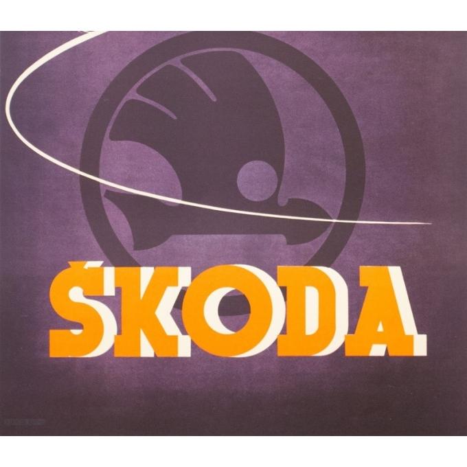 Affiche ancienne de publicité - Kar - 1930 - Skoda - 93 par 61.5 cm - Vue 3