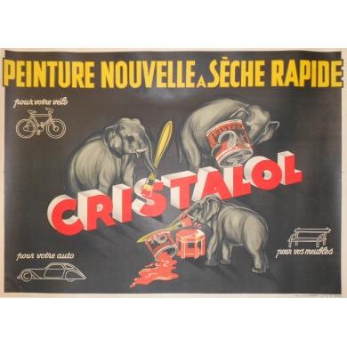 Affiche ancienne publicitaire Cristalol
