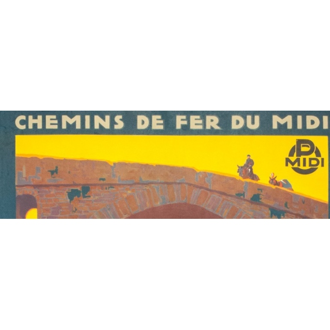 Affiche ancienne de voyage - Pierre Comarmont  - 1930 - Amélie les bains - 100 par 62 cm - Vue 2