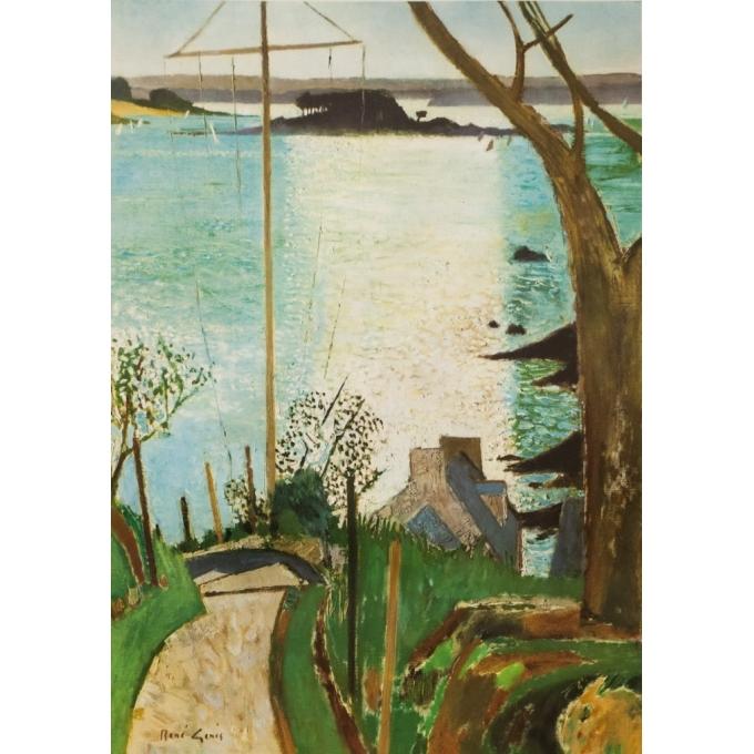 Affiche ancienne de voyage - René Jenis  - 1957- Bretagne- SNCF - 100 par 63 cm - Vue 2