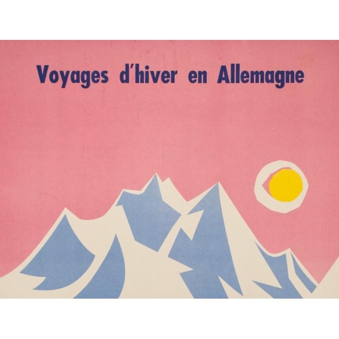 Affiche ancienne de voyage - Strom - 1960 - Voyage d'hiver en Allemagne - 100 par 63 cm - Vue 2