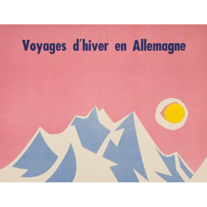 Vintage travel poster - Strom - 1960 - Voyage d'hiver en Allemagne - 39.4 by 24.8 inches - View 2