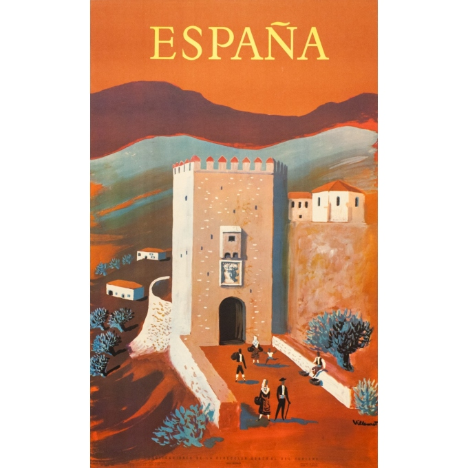 Vintage travel poster - Villemot - 1959 - España - 39.4 by 24.4 inches