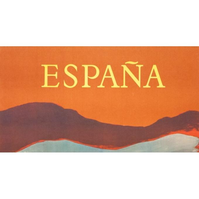 Affiche ancienne de voyage - Villemot - 1959 - España - 100 par 62 cm - Vue 2
