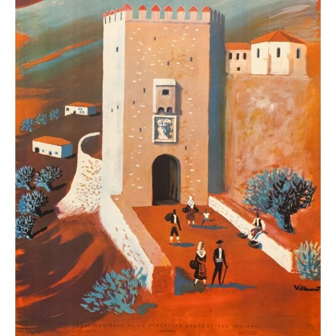 Affiche ancienne de voyage - Villemot - 1959 - España - 100 par 62 cm - Vue 3
