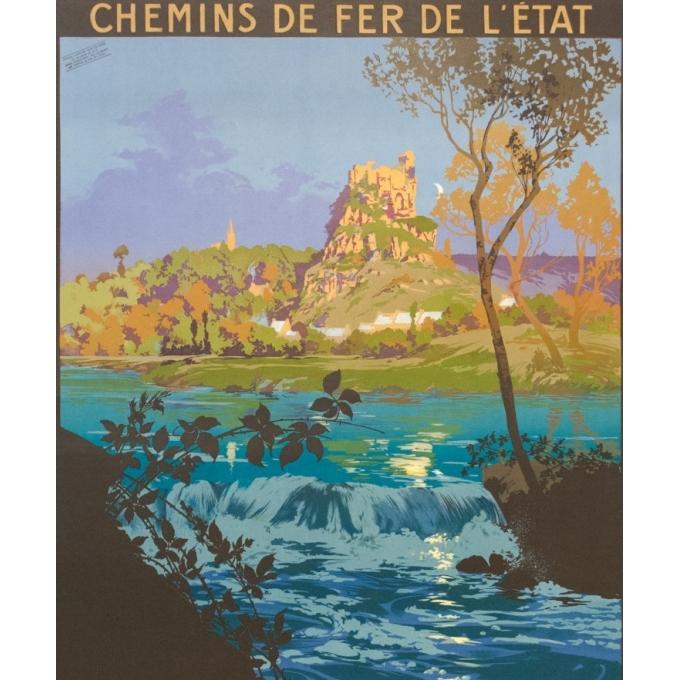 Affiche ancienne de voyage - Julien Lacaze - 1910 - Excursion en Bretagne - 104.5 par 74.5 cm - Vue 2