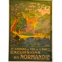 Pleasure trip in Normandie (Yport) Original and vintage poster Elbé Paris France